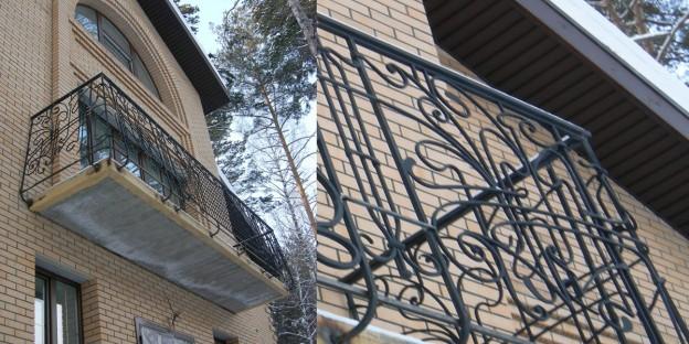кованые изделия для балкона