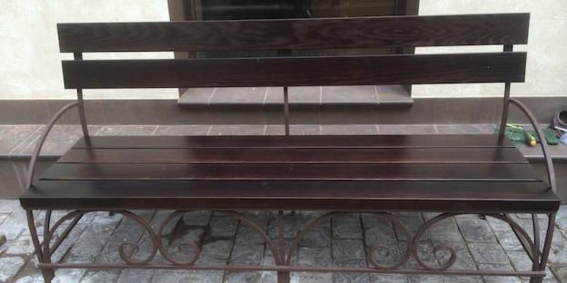 художественная ковка скамейки